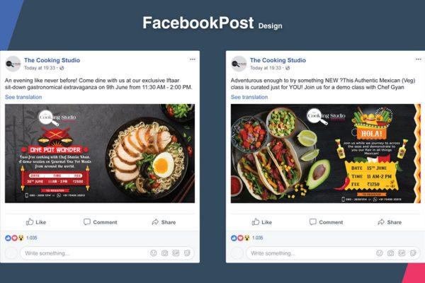 The Cooking Studio - Social Media Posts